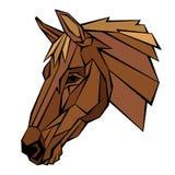 Illustrazione di vettore di profilo della testa di cavallo Immagini Stock Libere da Diritti