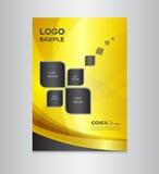 Illustrazione di vettore di progettazione della copertura dell'oro illustrazione vettoriale