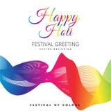 Illustrazione di vettore di progettazione di festival di Holi Immagini Stock