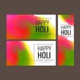 Illustrazione di vettore di progettazione felice del fondo di festival di Holi Immagine Stock
