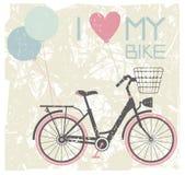 Illustrazione di vettore di retro bicicletta illustrazione di stock