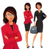 Illustrazione di vettore di riuscita donna di affari Immagine Stock Libera da Diritti