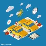 Illustrazione di vettore di servizio di taxi illustrazione di stock