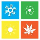 Illustrazione di vettore di simbolo dell'icona di quattro stagioni Fotografia Stock Libera da Diritti