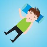 Illustrazione di vettore di sonno di divertimento del fumetto dell'uomo d'affari Immagine Stock