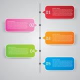 Illustrazione di vettore di stile di Infographics di affari Fotografia Stock Libera da Diritti