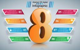 Illustrazione di vettore di stile di origami di Infographics di affari otto illustrazione di stock