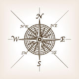 Illustrazione di vettore di stile di schizzo della rosa dei venti Fotografia Stock Libera da Diritti