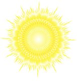 Illustrazione di vettore di Sun Fotografia Stock Libera da Diritti