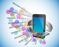 Illustrazione di vettore di sviluppo di applicazioni mobile illustrazione di stock