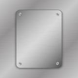 Illustrazione di vettore di Techno Fondo del metallo con il piatto ed i ribattini La struttura metallica di lerciume ha spazzolat illustrazione vettoriale
