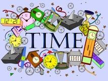 Illustrazione di vettore di tempo Fotografia Stock