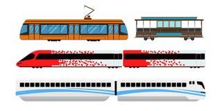 Illustrazione di vettore di trasporto ferroviario della città Fotografia Stock