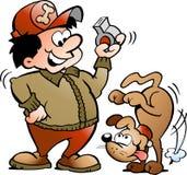 Illustrazione di vettore di un addestratore di cane Immagine Stock Libera da Diritti