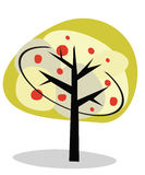 Illustrazione di vettore di un albero astratto. Immagini Stock Libere da Diritti