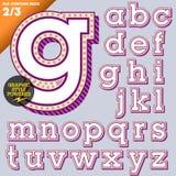 Illustrazione di vettore di un alfabeto antiquato Immagine Stock