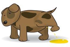 Illustrazione di vettore di un cane d'orinata Immagine Stock Libera da Diritti