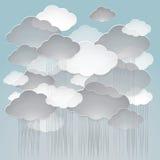 Illustrazione di vettore di un cielo nuvoloso piovoso Fotografie Stock