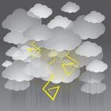 Illustrazione di vettore di un cielo tempestoso Fotografie Stock