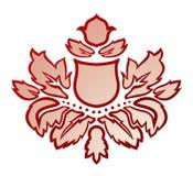 Illustrazione di vettore di un fiore astratto rosso Fotografia Stock