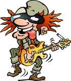 Illustrazione di vettore di un giocatore di chitarra pesante Immagine Stock Libera da Diritti