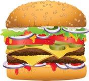 Hamburger delizioso saporito Fotografie Stock