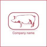 Illustrazione di vettore di un maiale Fotografia Stock