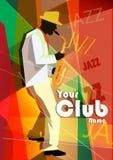 Illustrazione di vettore di un manifesto di jazz con Fotografia Stock Libera da Diritti