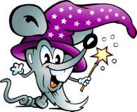 Illustrazione di vettore di un mouse magico del calcolatore Fotografia Stock Libera da Diritti