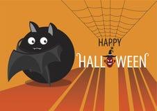 Illustrazione di vettore di un pipistrello sveglio di Halloween Illustrazione di Stock