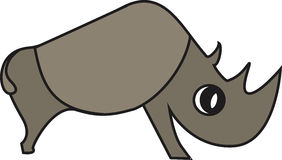 Illustrazione di vettore di un rinoceronte Fotografia Stock Libera da Diritti