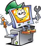 Illustrazione di vettore di un riparatore del calcolatore Fotografia Stock Libera da Diritti
