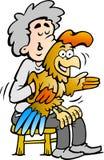 Illustrazione di vettore di un ventriloquist di A Fotografia Stock Libera da Diritti