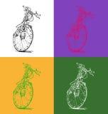 Illustrazione di vettore di una bicicletta Fotografie Stock Libere da Diritti
