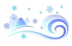 Illustrazione di vettore di una bufera di neve Fotografia Stock Libera da Diritti