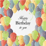 Illustrazione di vettore di una cartolina d'auguri di buon compleanno Immagini Stock Libere da Diritti