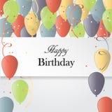 Illustrazione di vettore di una cartolina d'auguri di buon compleanno Fotografia Stock Libera da Diritti