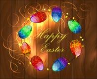 Illustrazione di vettore di una Pasqua felice Fotografia Stock
