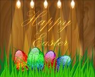 Illustrazione di vettore di una Pasqua felice Fotografie Stock