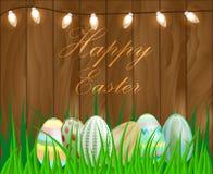 Illustrazione di vettore di una Pasqua felice Immagine Stock