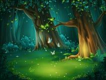 Illustrazione di vettore di una radura della foresta illustrazione di stock