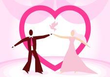 Illustrazione di vettore di una sposa e di uno sposo Immagini Stock Libere da Diritti