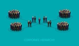 Illustrazione di vettore di una struttura corporativa di gerarchia Concetto di direzione organizzazione del personale e della ges illustrazione vettoriale