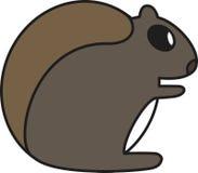 Illustrazione di vettore di uno scoiattolo Immagine Stock