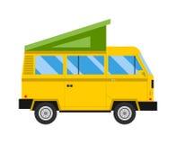 Illustrazione di vettore di vacanza di famiglia dell'automobile di viaggio Fotografie Stock