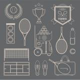 Icone di tennis di vettore Immagine Stock