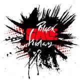 Illustrazione di vettore di vendita di Black Friday per la vostro progettazione, manifesto o insegna Iscrizione disegnata a mano  Fotografia Stock Libera da Diritti