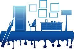 Illustrazione di vettore di verniciatura della stanza interna royalty illustrazione gratis