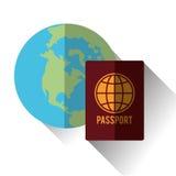 Illustrazione di vettore di viaggio, icona di vettore Immagine Stock