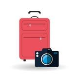 Illustrazione di vettore di viaggio, icona di vettore Fotografia Stock